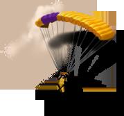 Прыжки с парашютом в тандеме с 4000 м.