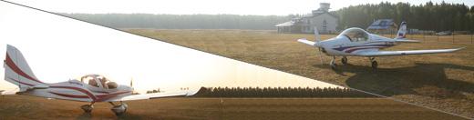 Парный полет на Skyleader 500 и Eurostar