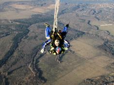 Раскрытие основного парашюта