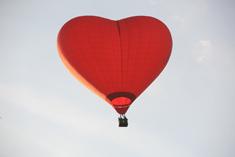 Воздушный шар в форме сердца