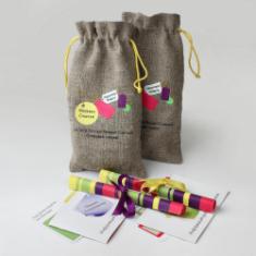 Мешочек с подарком и подарочный сертификат