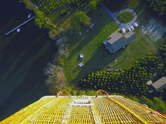 Вид из гондолы воздушного шара